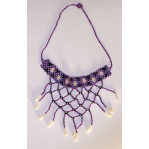 Massai Beaded Choker Necklace : Lilac