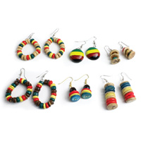 Set of 6 Rasta Earrings
