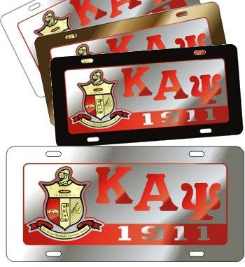 Kappa Alpha Psi license plate Domed Shield