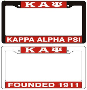 Kappa Alpha Psi license frame Plastic License Pla