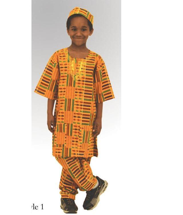 Children\'s Kente Pant Set-X LARGE