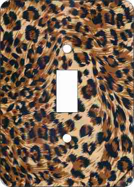 Leopard Print Switch Plate