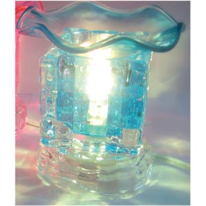 Electric Glass Oil Burner : Blue