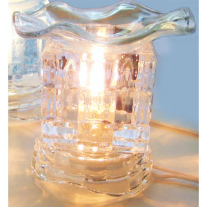 Electric Glass Oil Burner : Clear