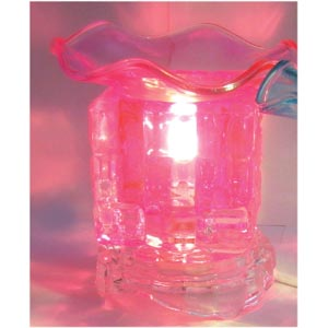 Electric Glass Oil Burner : Pink