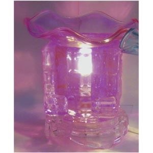 Electric Glass Oil Burner : Purple