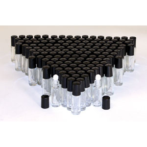1 Dram Glass ROLL-ON Bottle - Set of 144