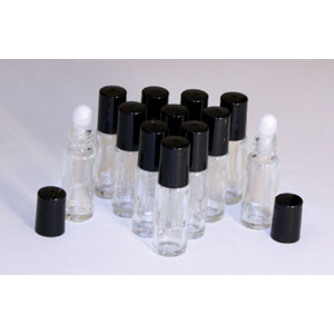 1 Dram Glass ROLL-ON Bottles - Set of 12