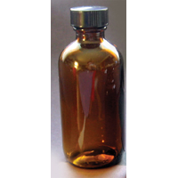 4oz. Amber Round Bottle - Set of 12