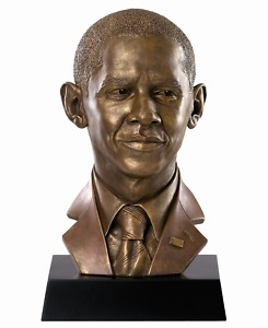 President Obama Bust by Thomas Blackshear - Ebony Visions