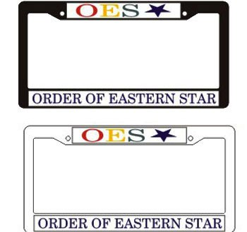 Order of The Eastern star gift auto accessoryPlastic License Pl