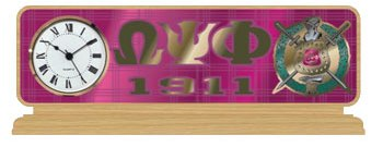 Omega Psi Phi Gifts-Collectibles-Omega Psi Phi Desktop Clock
