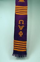 Omega Psi Phi apparel Kente Graduation Stole