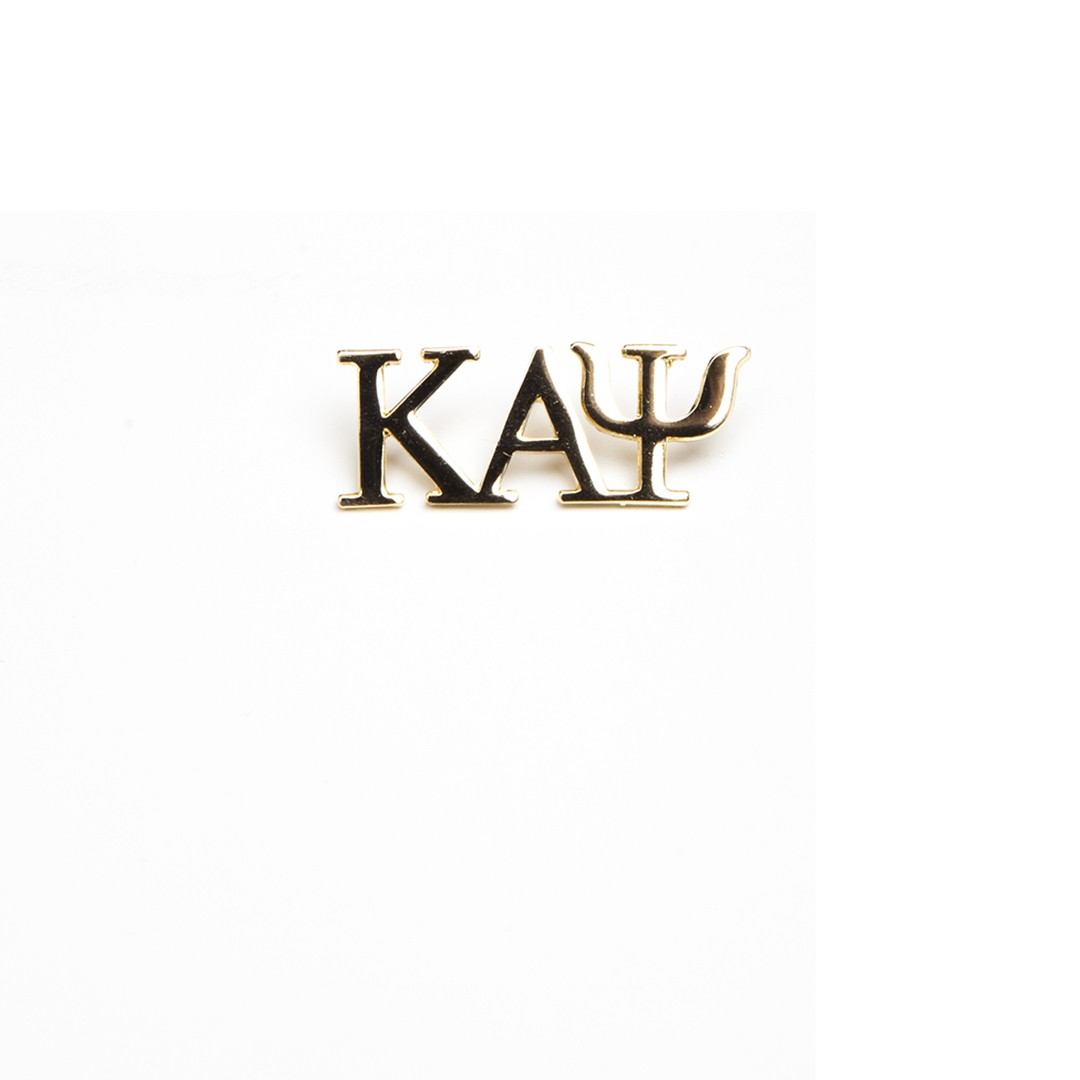Kappa Alpha Psi Jewelry 3 Letter Gold Pin