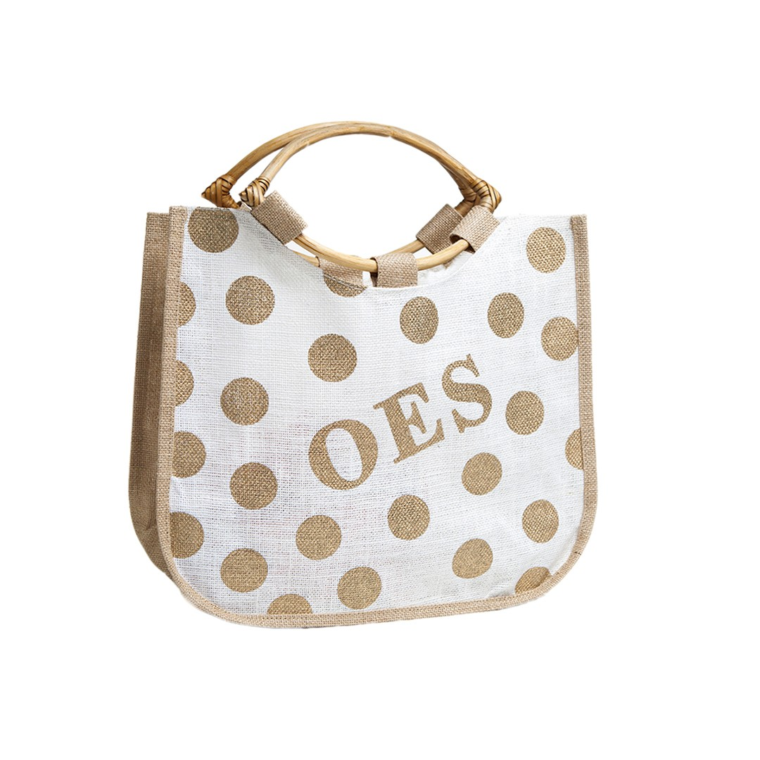 Order Of The Eastern Star Bag A Polka Dot Jute