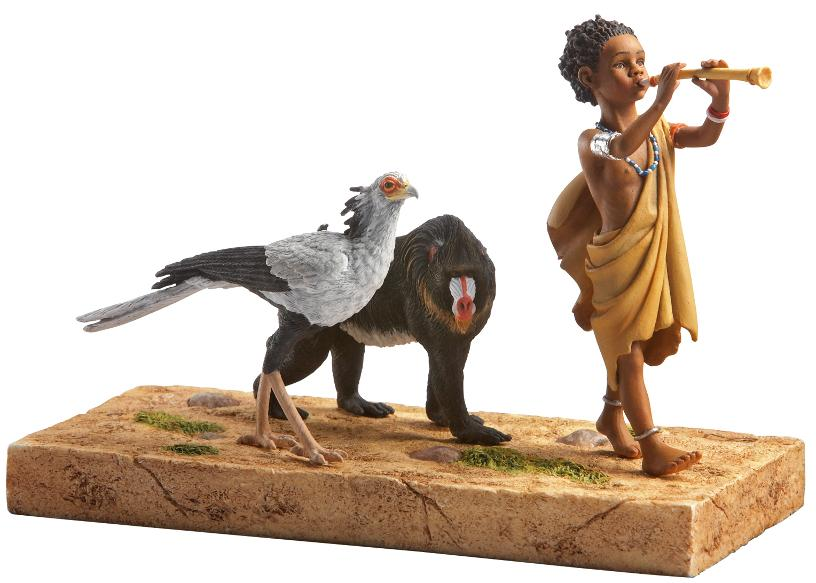 A Child Shall Lead Them - Savanna Song  - figurine - Ebony Visio