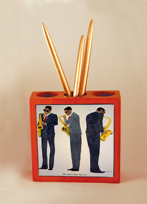 Sax Jazz Pen Holder