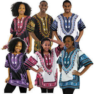 Set of 12 Traditional Print Dashikis