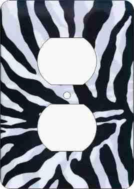 Zebra Print Outlet Cover