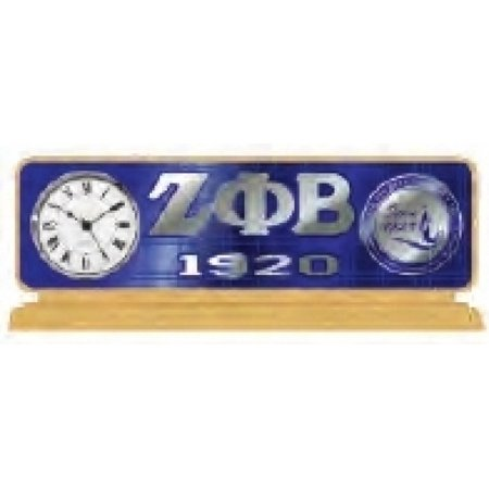 Zeta Phi Beta Decor - Desktop Clock