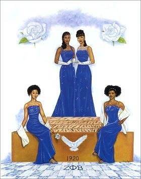 Zeta Phi Beta Decor - art work